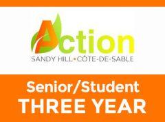 Senior/Student – Three Year